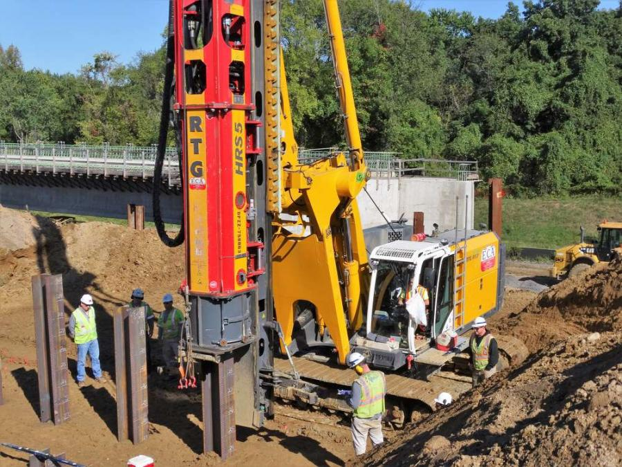 PKF-Mark III rented the RTG RM 20 pile driving rig with HRS 5 hydraulic hammer in August 2016 to support several foundation elements including 60,000 linear ft. (18,288 m) of H-piles.