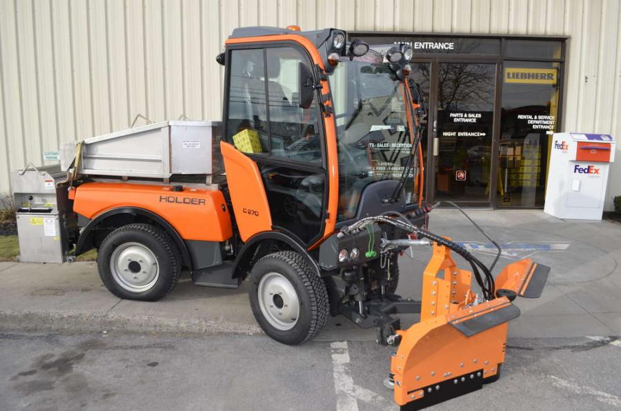 Holder Tractors and its full line of attachments are now available at Tracey Road Equipment.