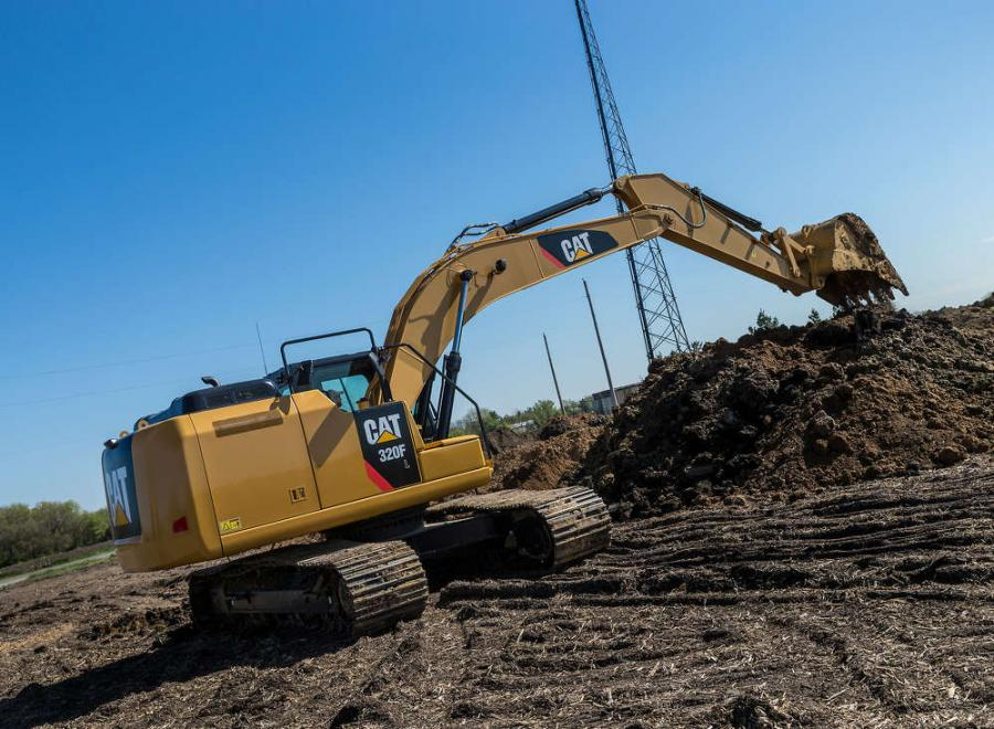 The mid-size Cat 320F hydraulic excavator.