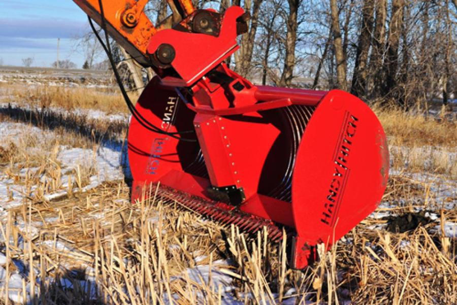 The Handy Hitch Model 120 Ditch Cutter is designed to cut vegetation submerged in water or dry cut above ground.