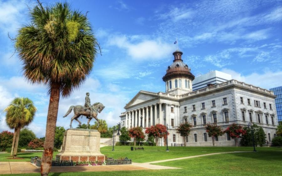 The State House in South Carolina.