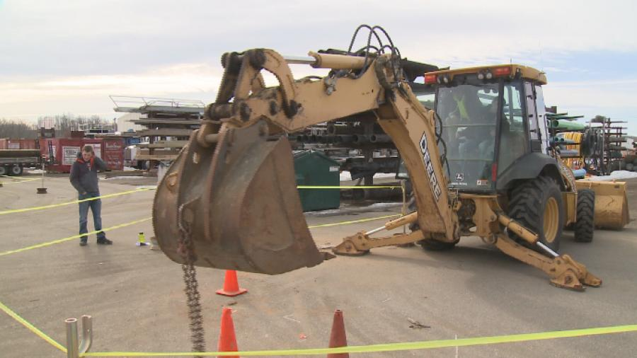 Students in Marshfield were able to get real hands-on experience at an event put on by Staab Construction.