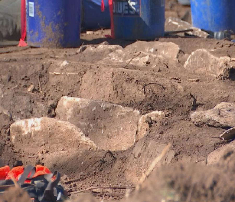 At least 40 stone box graves dating back hundreds of years have been found. (WSMV)