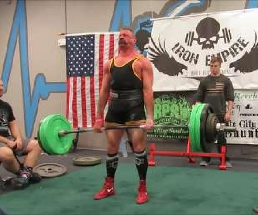 One of Hiltz's passions is power lifting. He recently broke his own RPS world record — masters division — with a 620 lb. deadlift.