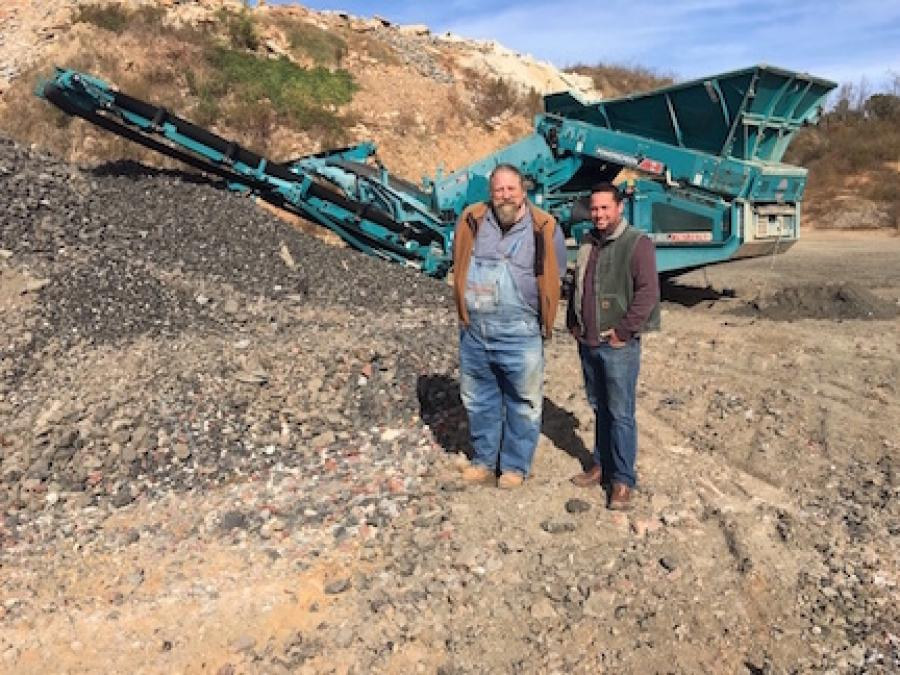 Thomas R. Westmoreland (L), president of J. Westmoreland Inc. of Kernersville, N.C., and Adam Logan, Powerscreen Mid-Atlantic