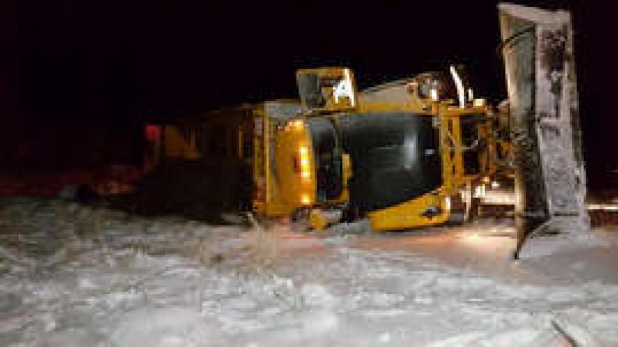 I-40 snowplow crash