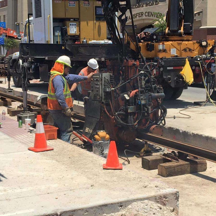 Construction is under way on a $102 million, 4.8-mi. (7.7 km) electric streetcar system in El Paso, Texas.