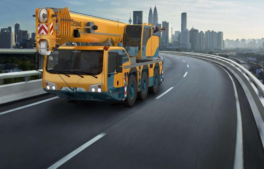 The 3-axle AC 55-3 and AC 60-3 cranes have an automated counterweight rigging system for easy and fast setup, a one-engine concept that minimizes operational and maintenance costs and the IC-1 Plus control system that provides the crane's maximum allowable lifting capacity, based on the slewing angle, for every crane configuration.
