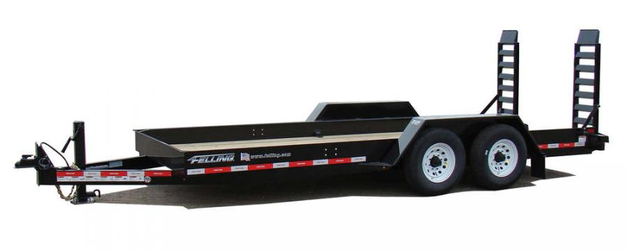 Felling's Pan Series trailers offer one of the lowest load angles for a ramp trailer.