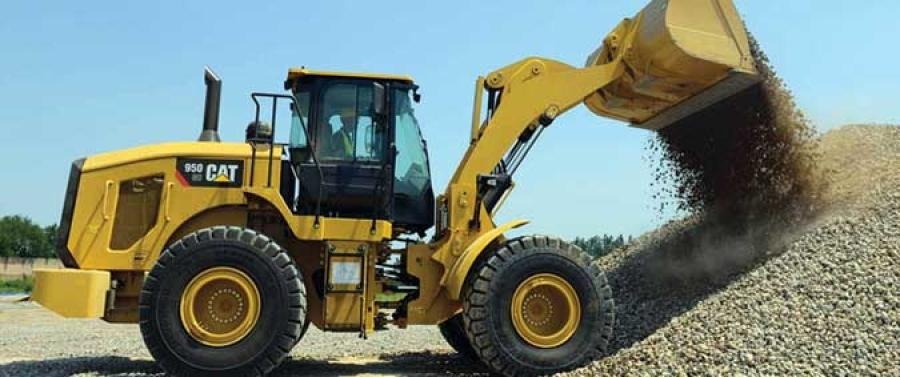 CAT 950GC wheel loader.