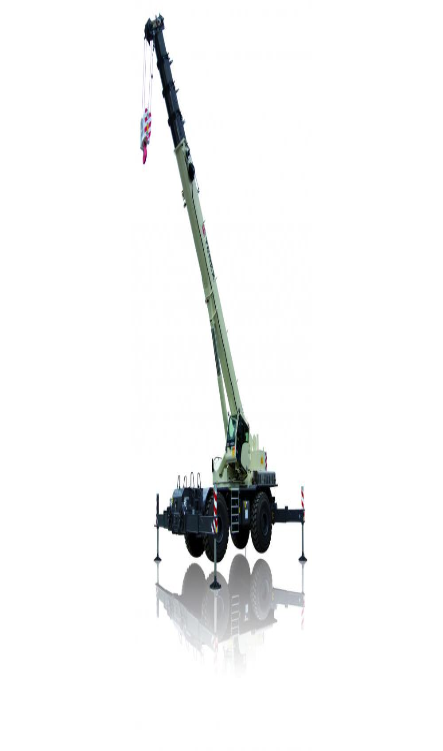 Terex RT 100US rough terrain crane.