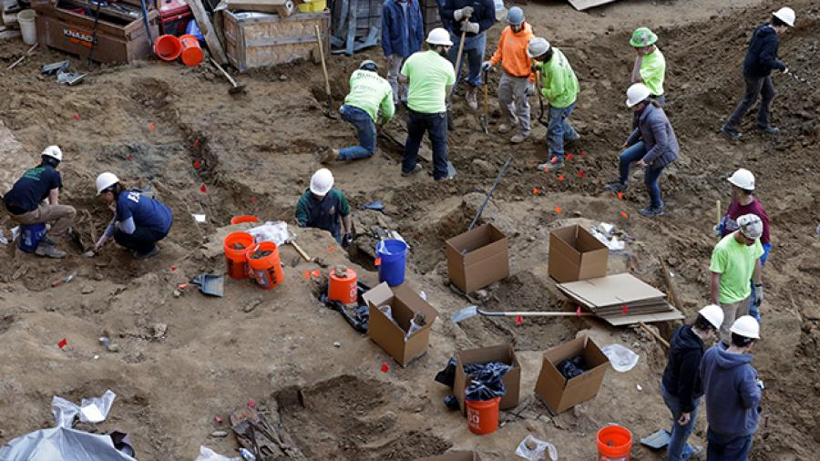 The hope is that the bodies will be re-interred at Mount Moriah Cemetery. (photo via (AP News.)