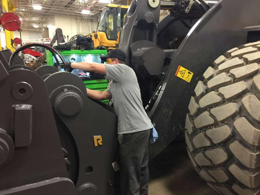 Alta Equipment technicians repair Adamo equipment.