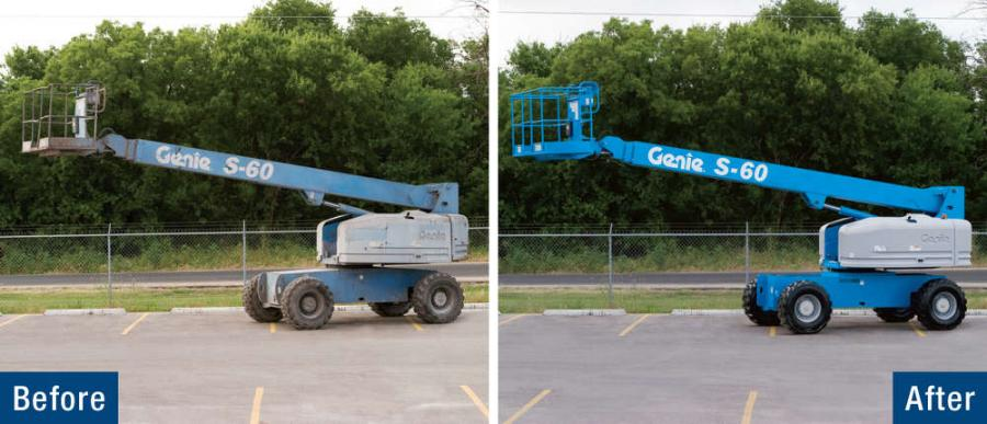 Before-And-After pictures from Genie Fleet Reconditioning Services.