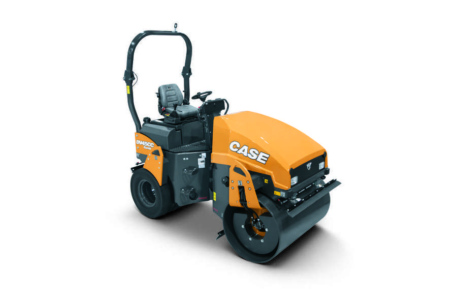 Case DV45CC combination vibratory roller.