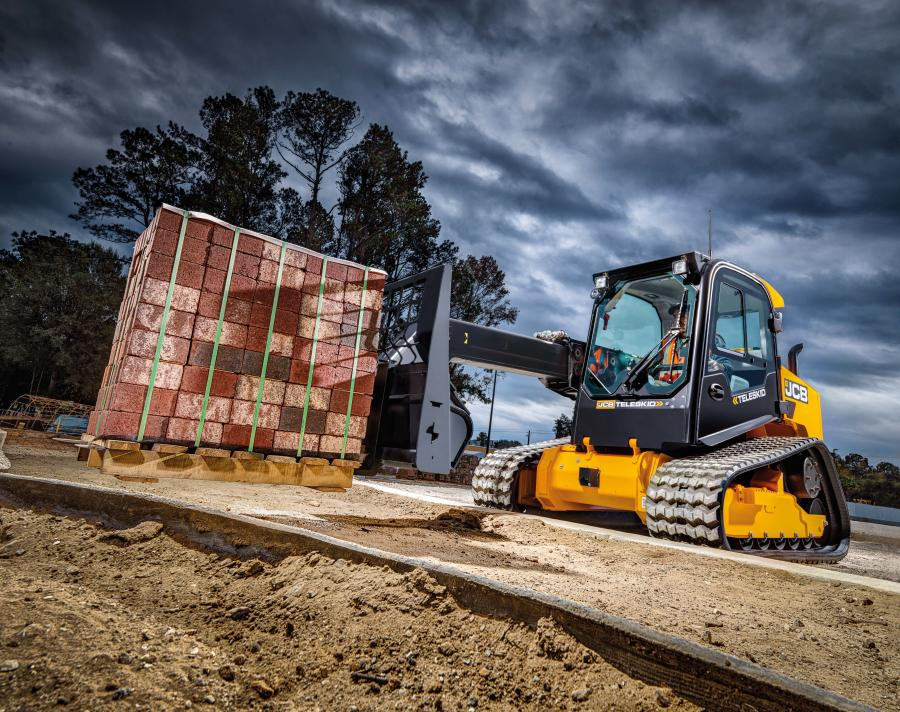 The Teleskid can reach 8 percent higher than other skid steers.