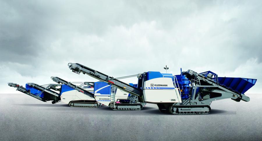 Kleemann EVO mobile impact crushers.