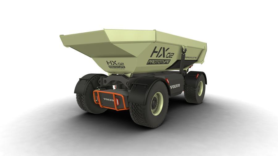 Volvo CE HX2 autonomous, battery-electric, load carrier