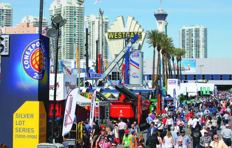 Huge crowds packed every walkway at ConExpo 2017