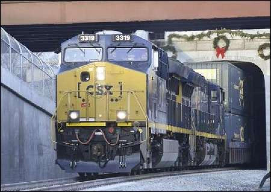 CSX said it moved the first double-stack train through the new tunnel on Dec. 23, hauling containers between Portsmouth, Va., and North Baltimore, Ohio.