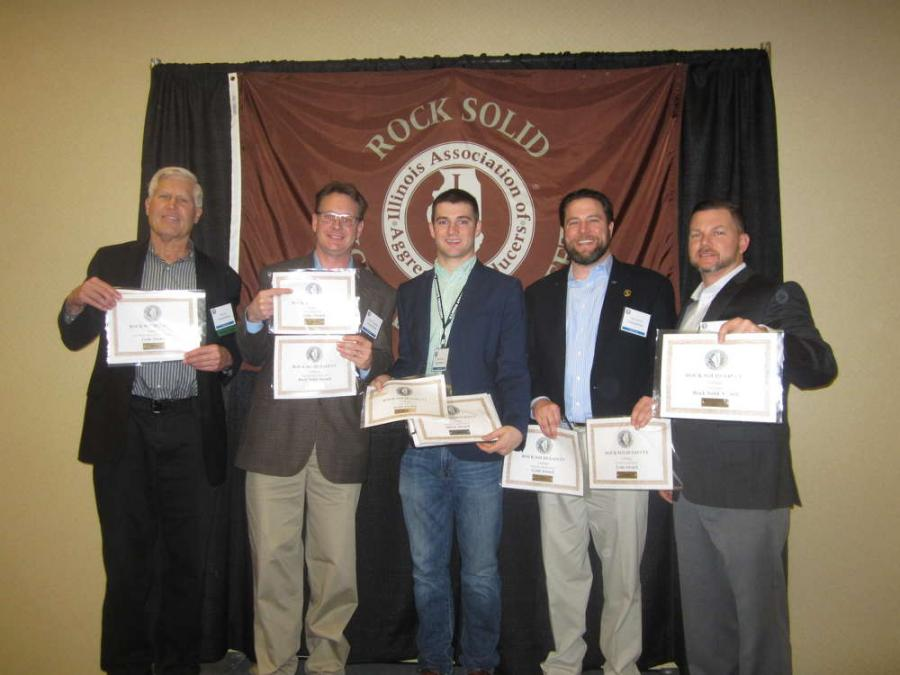 Rock Solid Excellence in Safety Award, Gold Award and Silver Award winners.