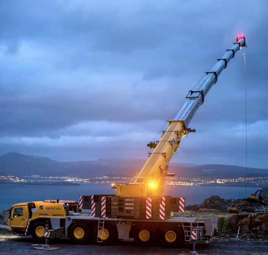 ArtiCon needed a mobile crane that is easy to maneuver on the unique terrain of the Faroe Islands, which is an archipelago off of the coast of Denmark.