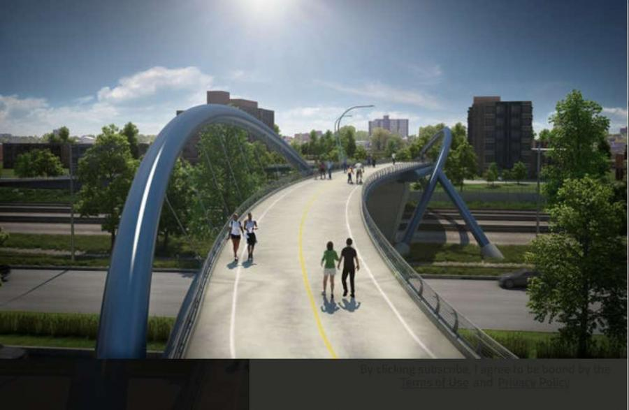 The multi-million dollar project would connect pedestrians and cyclist with Chicago's lakefront property.