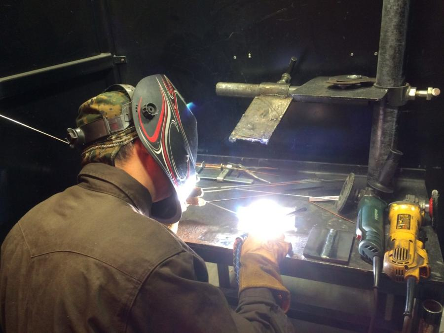 Welders can make up to $50 an hour. Picture by Florian Martin of Houston Public Media
