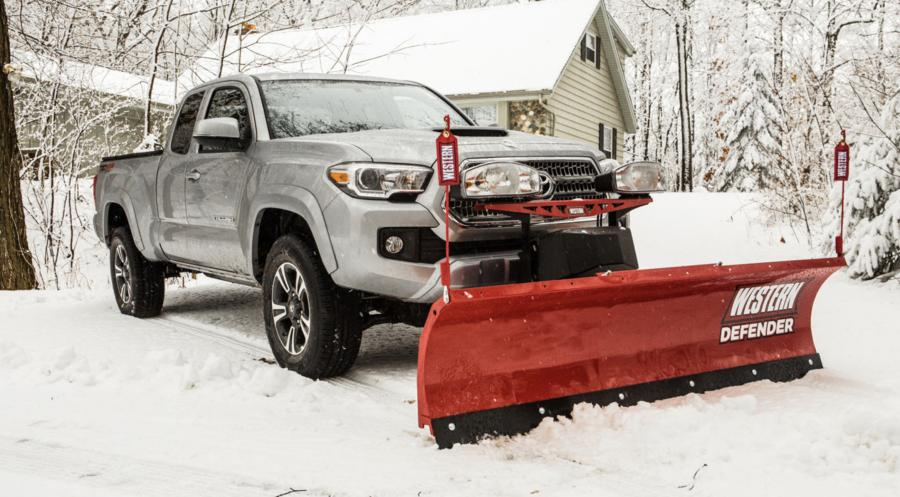 The Western Defender is a compact plow designed specifically for mid-size pickup trucks and SUVs.