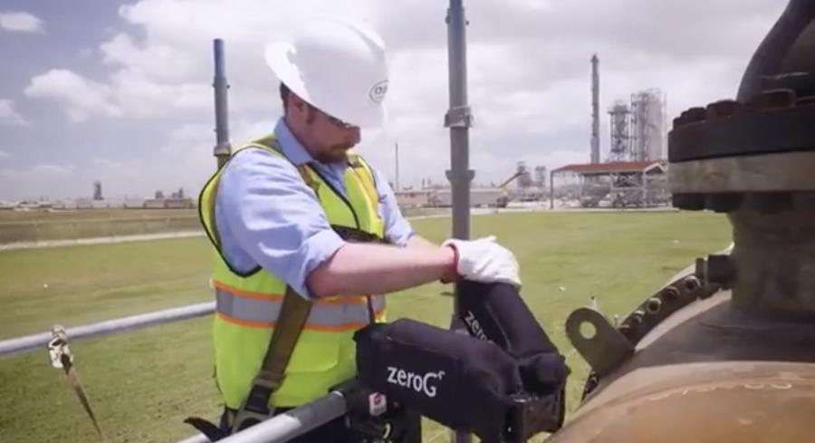 The EksoZeroG is a lightweight assistive device that has been designed to bear the load of heavy tools and enhance both safety and productivity for workers at construction sites.