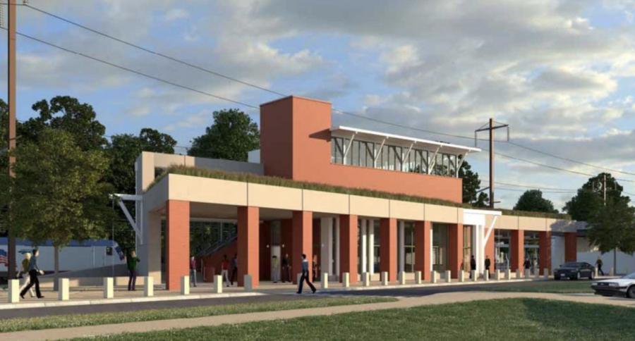 Newark Railroad train station design. Via DELDOT.