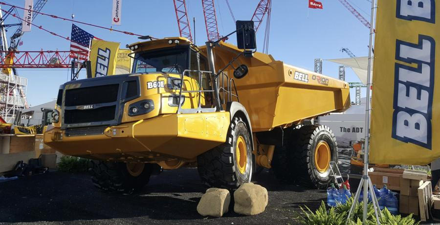 Bell Trucks B60E 4×4 crossover was a key feature at ConExpo-Con/AGG.