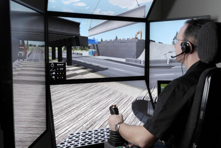CM Labs simulators help train equipment operators in realistic situations via the simulation environment.