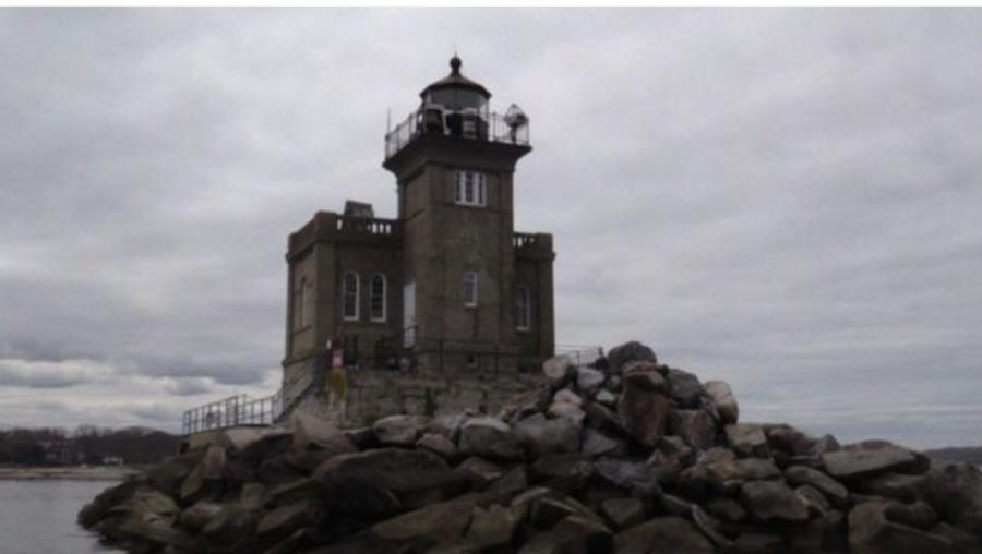 The theft took place at the Huntington Lighthouse as a restoration project was being completed.