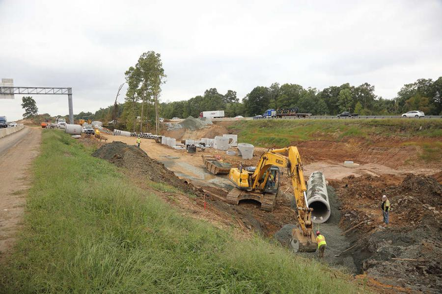 In Stafford County, Va., construction is under way to extend the Interstate 95 Express Lanes about 2 mi. (3.2 km) beyond the flyover ramp where the current 95 Express Lanes currently end, north of Garrisonville Road (Exit 143).