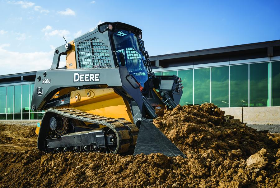 The John Deere large-frame G-Series skid steers (330G, 332G) and compact track loaders (331G, 333G) were inspired by extensive feedback from John Deere customers looking for more productivity, better visibility and simplified service to remain competitive in their businesses