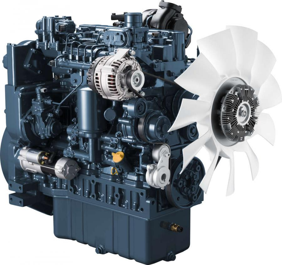 Kubota V5009 200HP compact diesel engine.