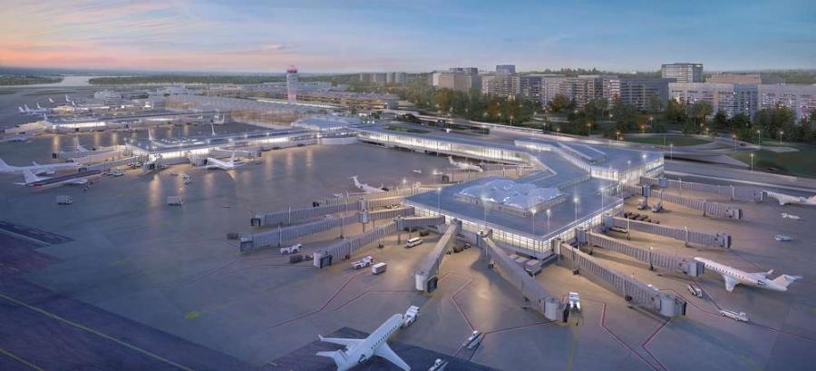 Reagan National's new commuter concourse will have 14 gates connected to regional aircraft.
