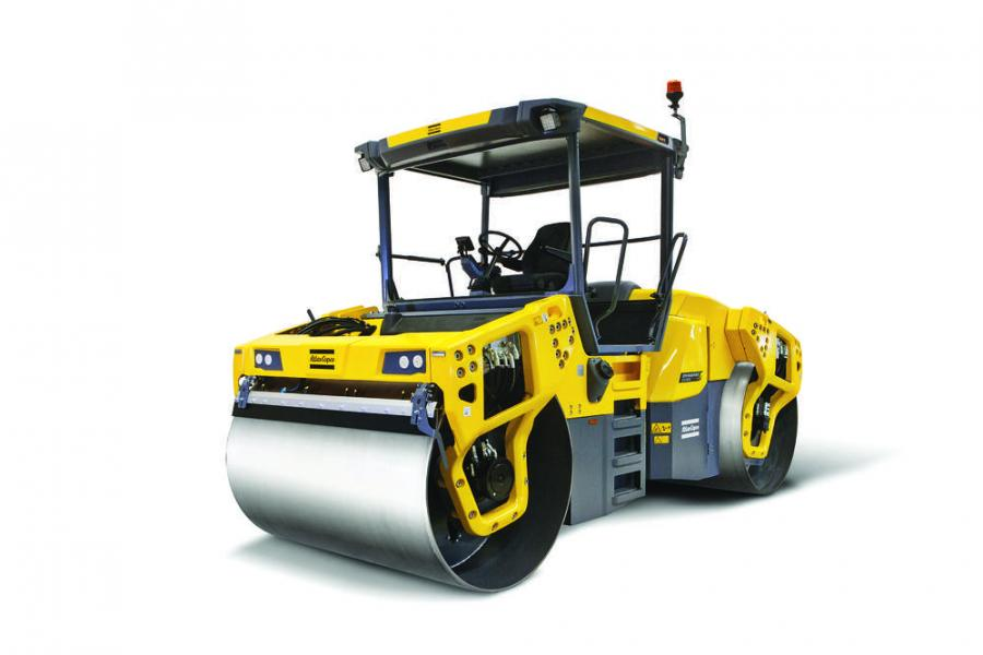 The Atlas Copco CC4200VI, CC5200VI and CC6200VI articulated tandem rollers feature LED lights and temperature sensors on the front and rear rollers so operators can better manage temperature drop while compacting.