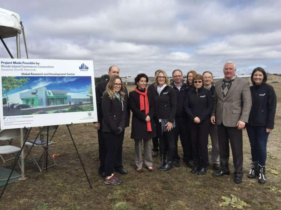 Gov. Gina M. Raimondo joined elected officials and business leaders at an event celebrating the construction of Finlays new global research and development center at Quonset Business Park.