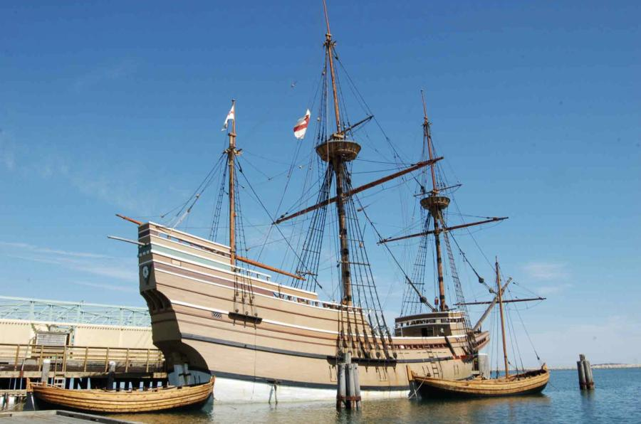 The Mayflower II, which was built in 1957 and is a major tourist attraction on the Plymouth, Mass., waterfront, is now at the Seaport undergoing a 30-month restoration.