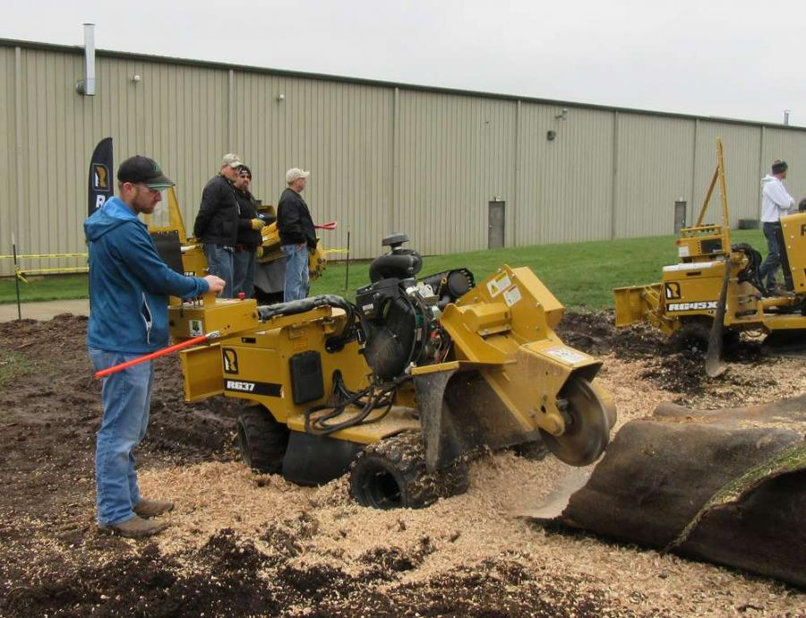 Paul Lemmon of Lemmon's Stump Removal was impressed with the output of Rayco's RG37, stating that it was a surprisingly solid unit for its size.