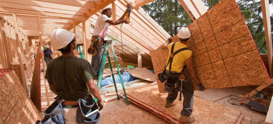 Residential construction was up 1.2% during March.
