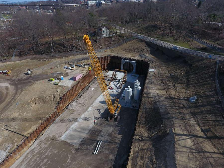 Later this summer, a convoy of trucks will be moving into downtown Akron, Ohio, carrying huge pieces of what will eventually be a massive tunnel-boring machine.