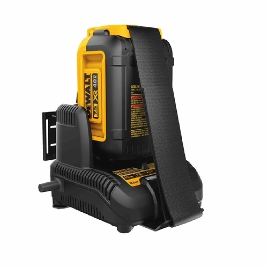 DEWALT 40V MAX* outdoor power equipment battery.