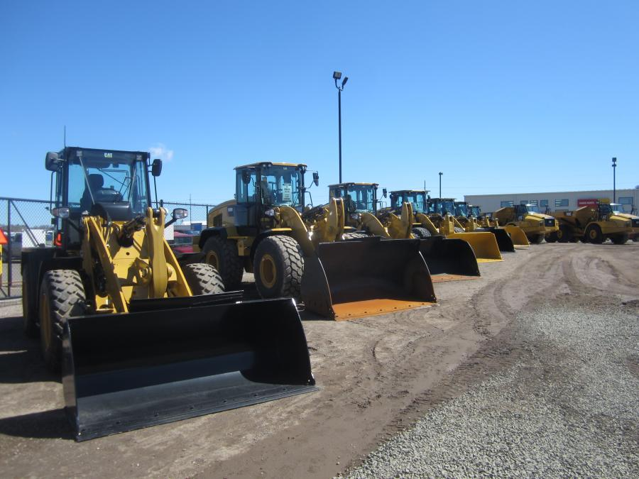 A variety of Cat equipment was on display at the open house.
