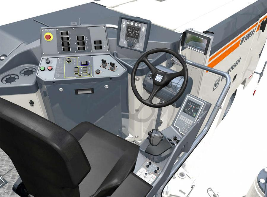 Wirtgen's class of small milling machines integrates the uniform operating concept. Now an operator can, for instance, store up to three standard milling depths for each side using the ergonomic multifunctional armrest.