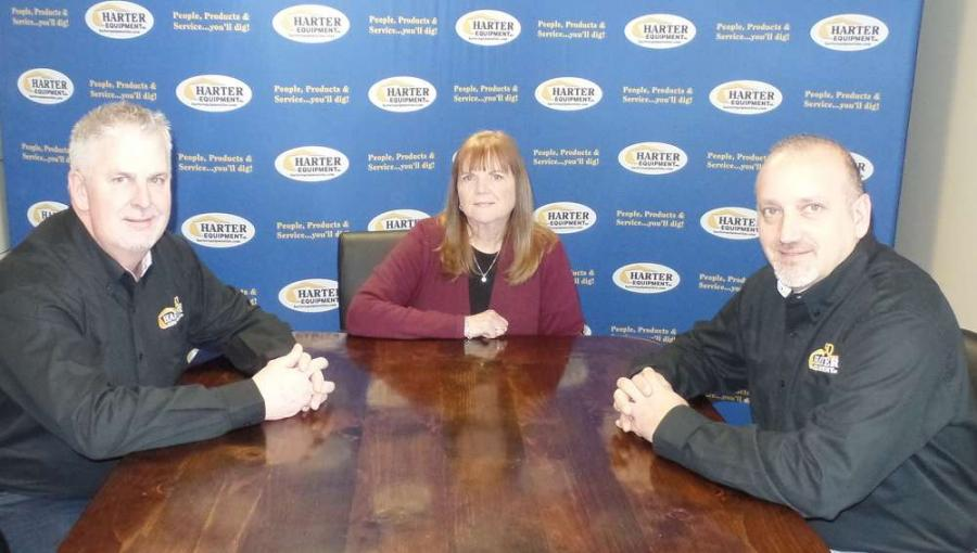 (L-R) are Brad Boyd, Harter vice president of operations; Sue Harter, president; and Vic Riga, vice president of sales.