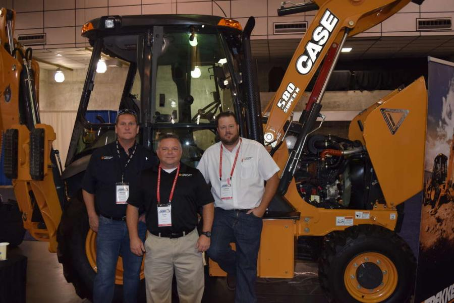 (L-R): Randy Shearin, Curt Lear and Lance Boutcher, all of the Trekker Group, talk to customers at the APWA show.