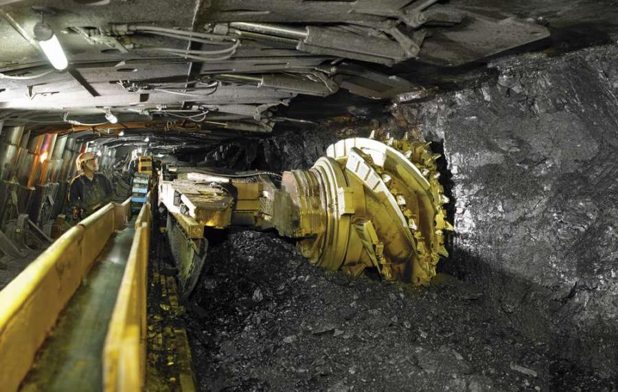Longwall mining machinery in a Colorado coal mine. Image credit: Peabody Energy, Inc.